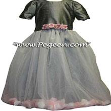 silver gray petal dresses