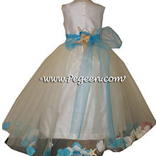 Tulle Flower Girl Dresses with Starish and Seashells