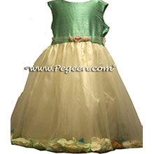 beach wedding for flower girl dress with shells