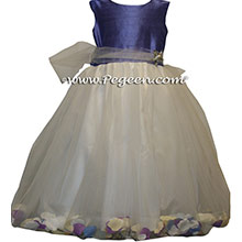 VIOLET PURPLE AND WHITE TULLE FLOWER GIRL DRESSES