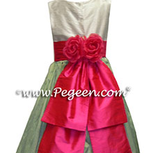 sage flower girl dresses