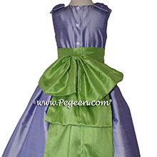 Apple Green and wisteria flower girl dresses Style 345 by Pegeen