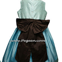 TIFFANY BLUE, AQUA AND SEMI-SWEET Flower Girl Dresses OR JUNIOR BRIDESMAIDS DRESSES