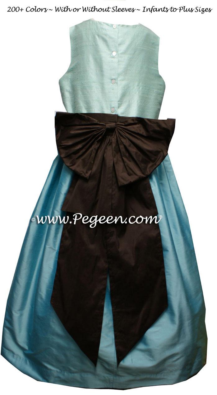TIFFANY BLUE, AQUA and SEMI-SWEET flower girl dresses