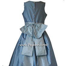Light blue flower girl dresses in BABY BLUE AND STEELE BLUE from Pegeen