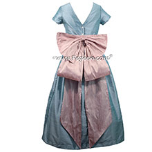Caribbean Blue and Rose Pink Flower Girl Dresses Pegeen Classic Style 345