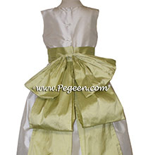 Flower Girl Dresses with Cinderella Back Bow Buttercreme and CITRUS by PEGEEN