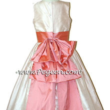 Flower Girl Dresses IN CORAL ROSE AND PEACH