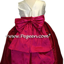 cranberry and raspberry flower girl dresses