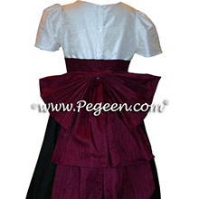 EGGPLANT AND BLACK CUSTOM FLOWER GIRL DRESSES