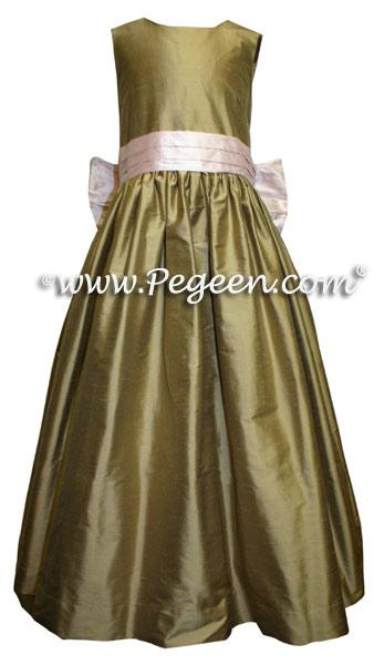 Sesame and peony pink junior bridesmaid dress