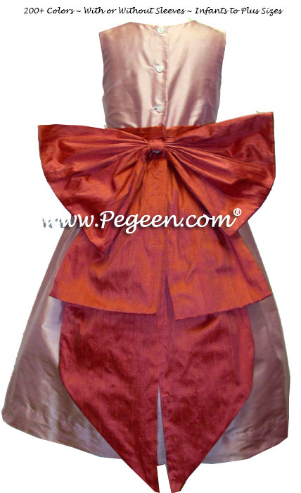 Matching Siri Inc. flower girl dresses by Pegeen