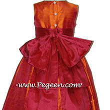 MANGO AND CRANBERRY flower girl dresses