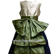 NAVY and  SAGE GREEN flower girl dresses