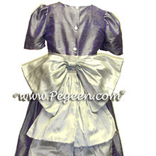 Light Purple or Victorian and platinum flower girl dresses