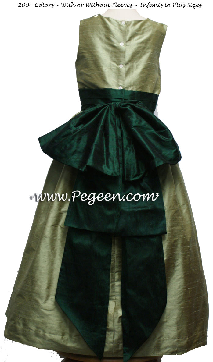 d7e62e1dfd9 SAGE AND FOREST FLOWER GIRL DRESS Style 345