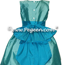 aqualine and turquoise flower girl dresses