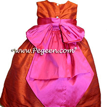 orange shock flower girl dresses