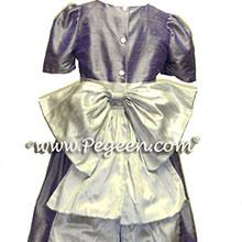 victorian purple platinum flower girl dresses