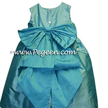 tiffany blue and turquoise flower girl dresses