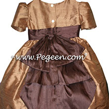 GINGER AND chocolate brown TODDLER FLOWER GIRL DRESSES
