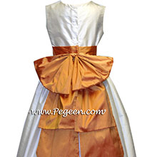 cantelope melon flower girl dresses
