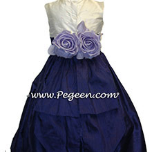DEEP PURPLE flower girl dresses