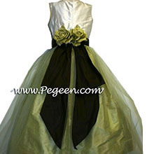 Celery and Semisweet flower girl dresses