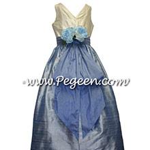 ocean blue flower girl dresses