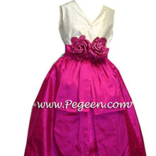 sequin and boing silk junior bridesmaids dresses