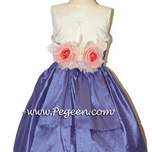 PURPLE VIOLET Flower Girl silk dress