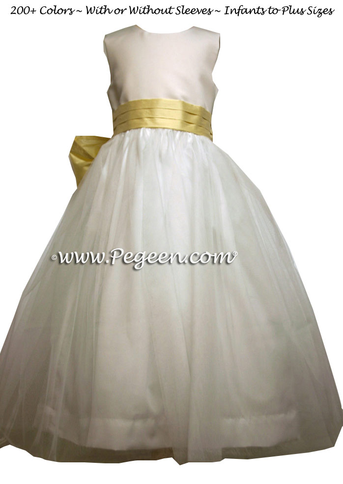 Baby chick yellow TULLE JUNIOR BRIDESMAID DRESS - A beautiful California Wedding