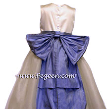 cinderella bow and tulle  flower girl dresses