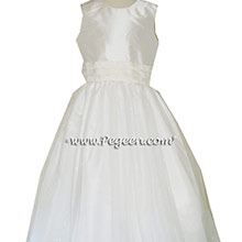 New Ivory Silk Flower Girl Dresses Style 356 from Pegeen