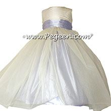 Light Orchid Silk Flower Girl Dresses by PEGEEN Style 356 and Tulle