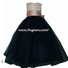 black and gold tulle flower girl dresses