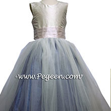 ocean blue tulle flower girl dresses