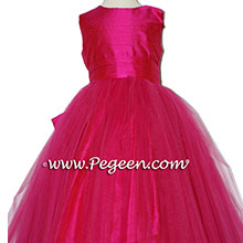 Raspberry Tulle and Raspberry silk dresses