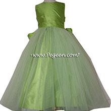Sprite Green Silk Flower Girl Dress of the Month Style 356 from Pegeen