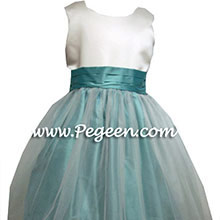 CUSTOM TIFFANY FLOWER GIRL DRESSES