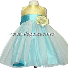 BUTTERCREME AND WHITE flower girl dresses