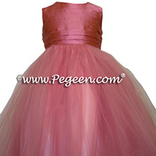 watermelon pink flower girl dresses