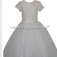 Antique White Custom First Communion dresses Style 356 BY PEGEEN