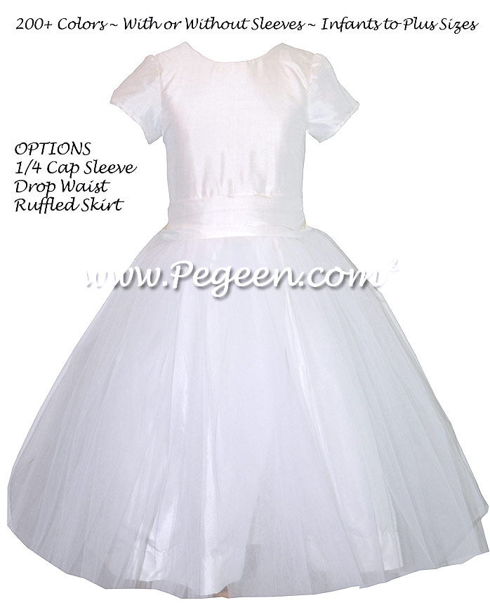 Antique White Custom First Communion Dress Style 356