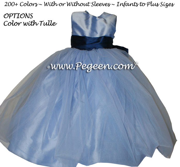 Wisteria (light blueish purple) Silk Flower Girl Dresses Style 356