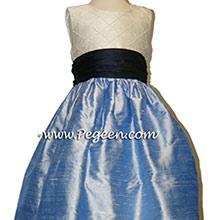 DENIUM BLUE AND NAVY CUSTOM Flower Girl Dresses