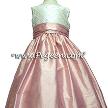 lotus pink flower girl dresses