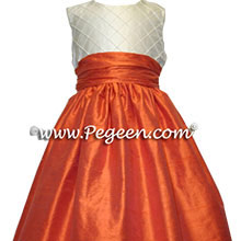 orange flower girl dresses