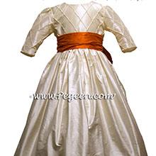 3/4 SLEEVES flower girl dresses