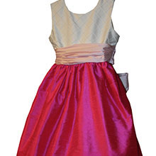 CUSTOM HOT PINK FLOWER GIRL DRESSES